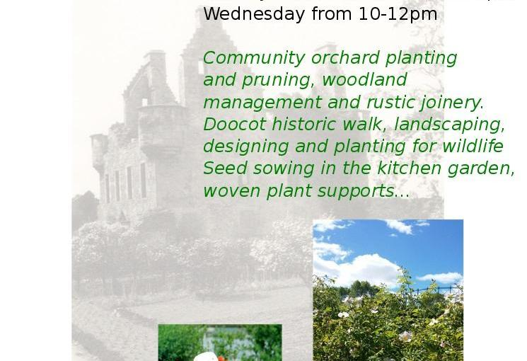 Spring volunteer sessions at Granton Castle garden