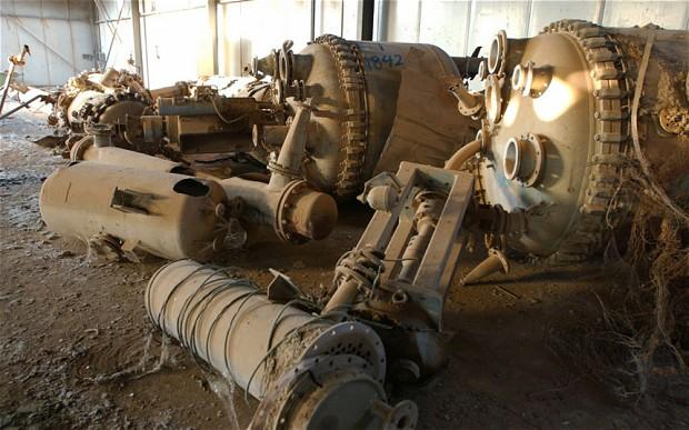 I resti delle armi chimiche nell'impianto iracheno di Muthanna (Foto: Getty Image)