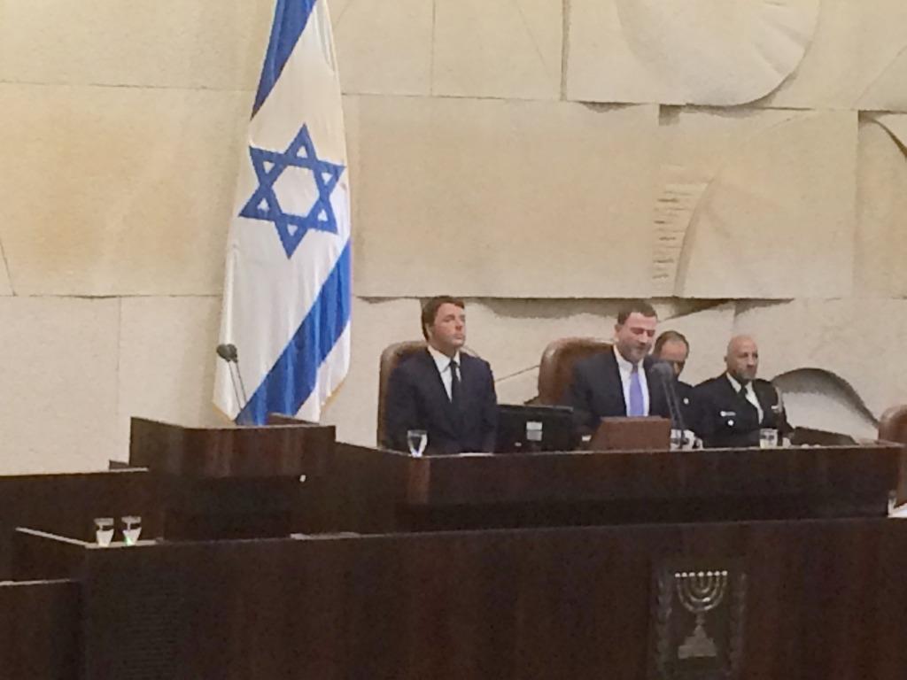 Matteo Renzi alla Knesset