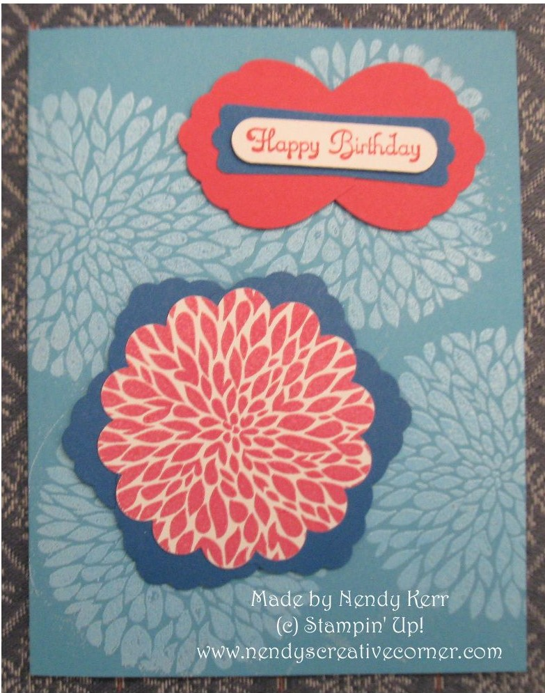 Betsy's Blossoms Embossed Birthday Card