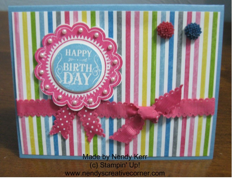 Blue Ribbon Birthday Card