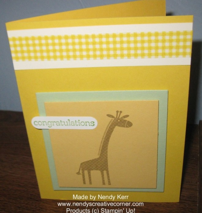Zoo Babies Baby Card or child's Birthday Card
