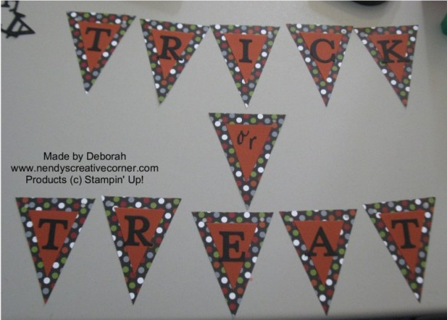 Deborah's Polka Dot Trick or Treat Banner