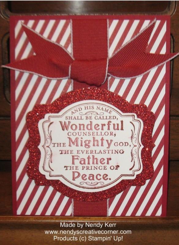 Wonderful Christmas Bow Card