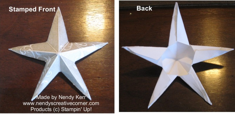 3D Christmas Star - Folded Front and Back