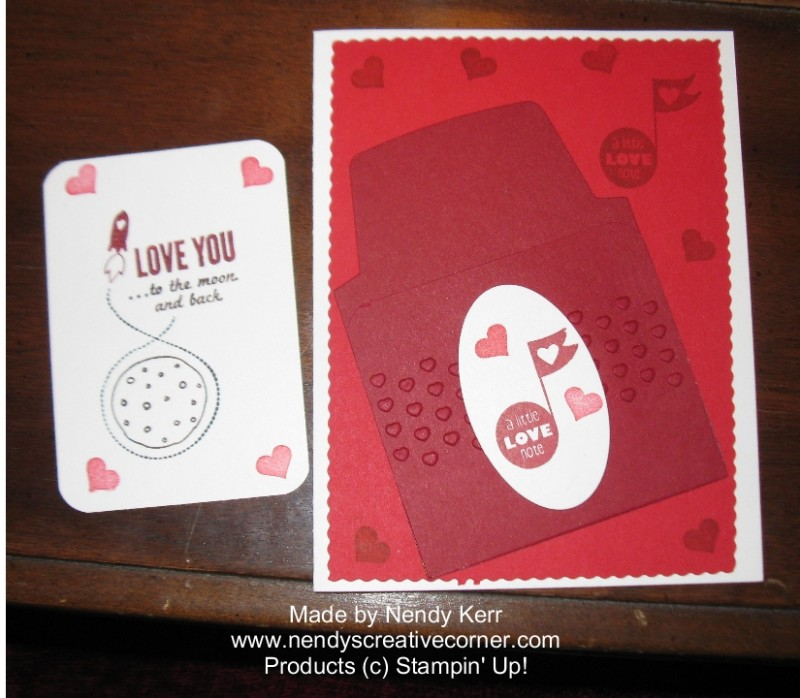 Love You to the Moon Valentine Card