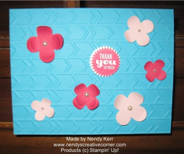 Floral Fusion Sizzlit meets Arrows Embossing Folder and Starburst Saying sBundle