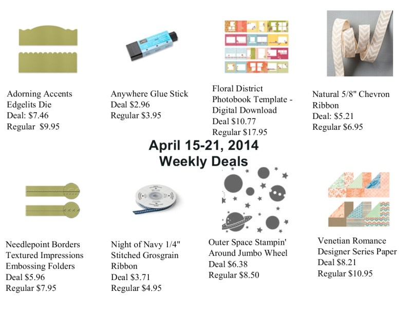 Weekly Deals April 15, 2014