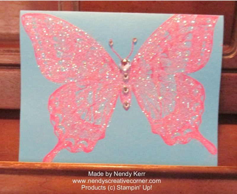 Sparkly Butterfly Card