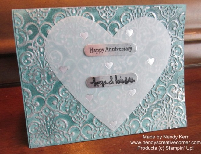 Silver and Blue Anniversary Card