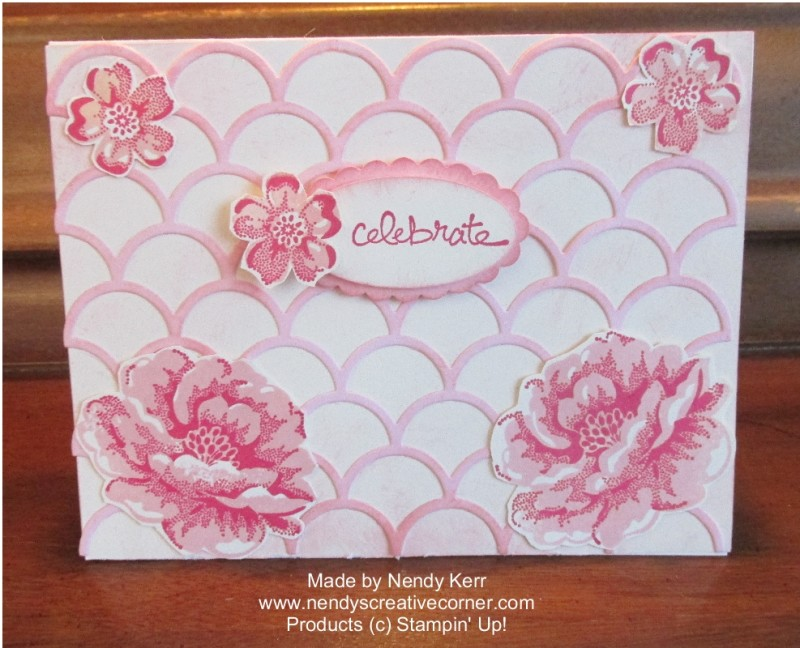 Stippled Roses and Striped Scallop Thinlit Card