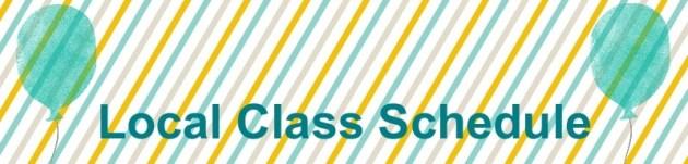 Local Class Schedule