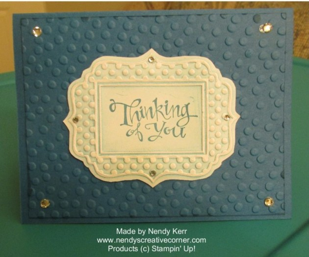 Fun Frames and Sponged Embossing Folder Technique