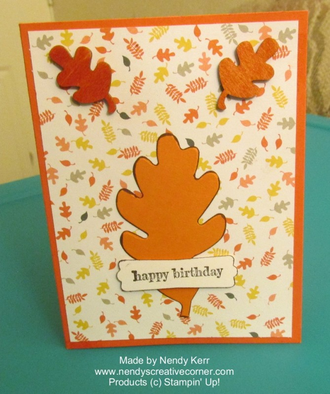 Fall Leaf Birthday Card