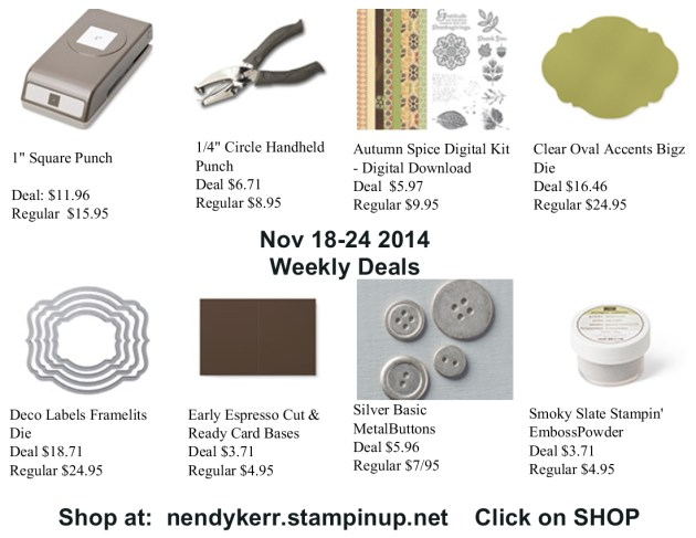 Weekly Deals for November 1-24, 2014