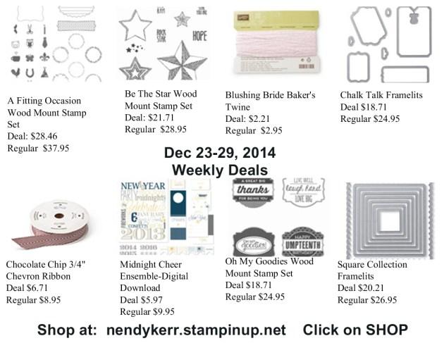 Weekly Deals December 23-29, 2014