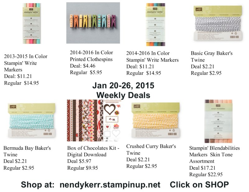 Weekly Deals for January 20-26, 2015