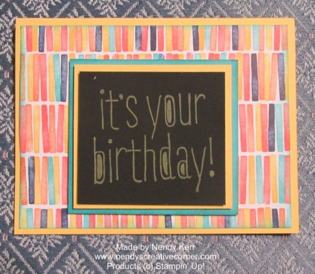 Chalkboard Birthday Card