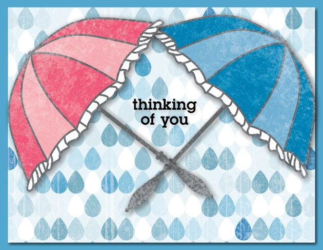 MDS Rainy Day Thinking of You card