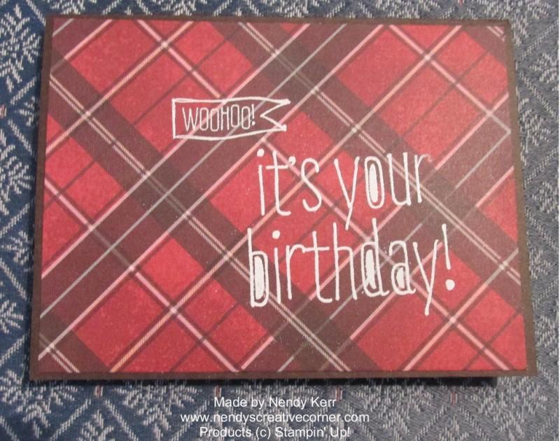 Man's Plaid Birthday Card