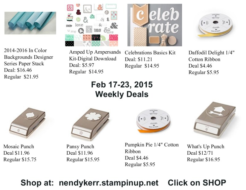 Stampin' Up! Weekly Deals February 17-23, 2015