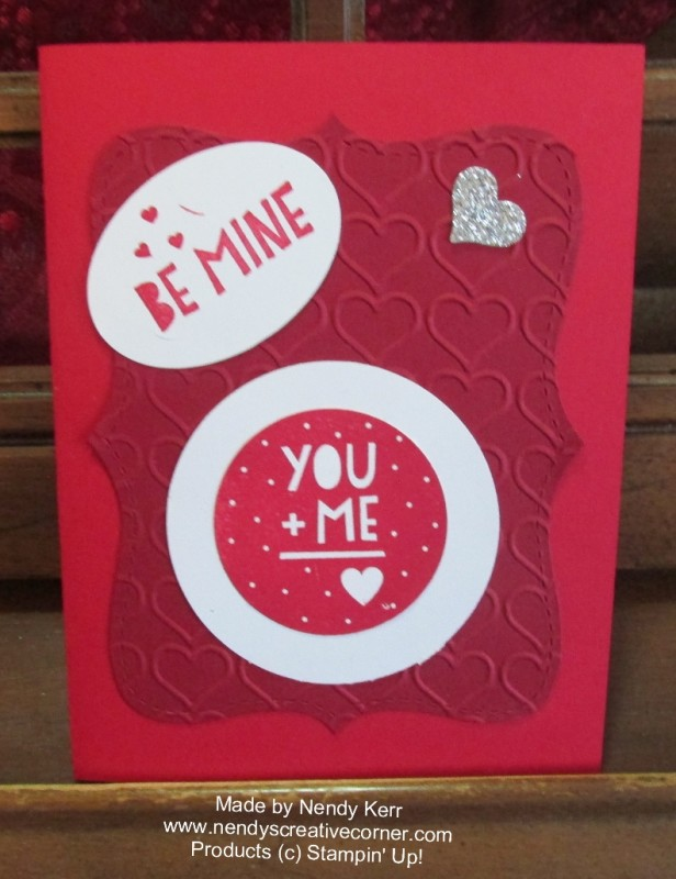 You Plus Me Valentine Card