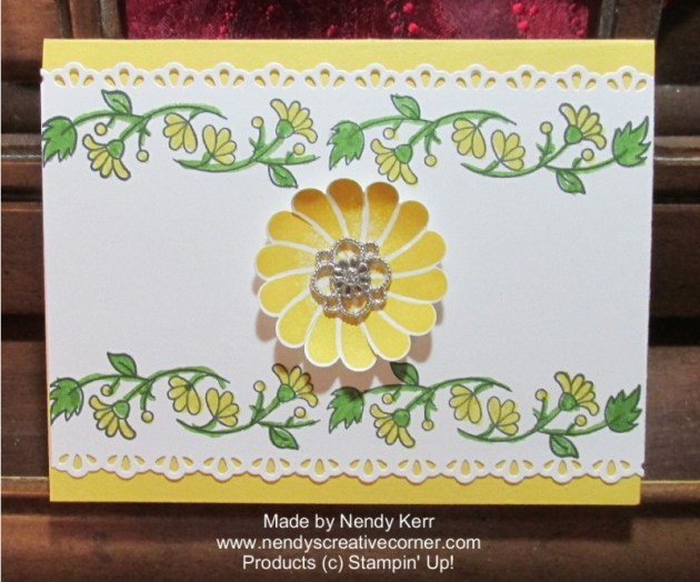 Daffodil Delight Border Flower Card