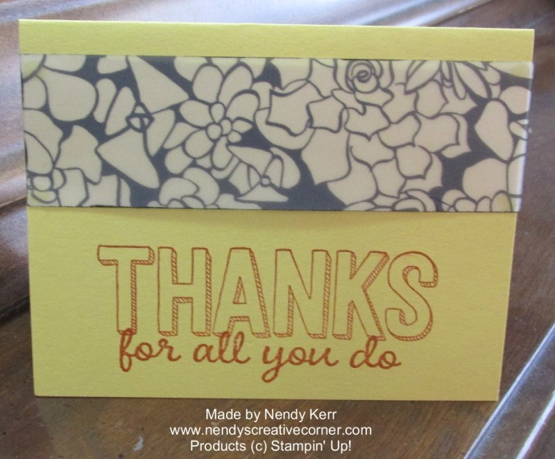 Printed Vellum Thank You Card
