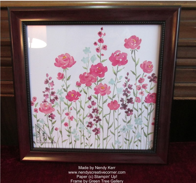Framed Painted Blooms