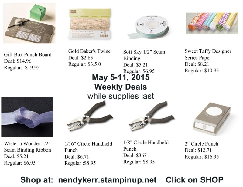 Weekly Deals May 5-11, 2015