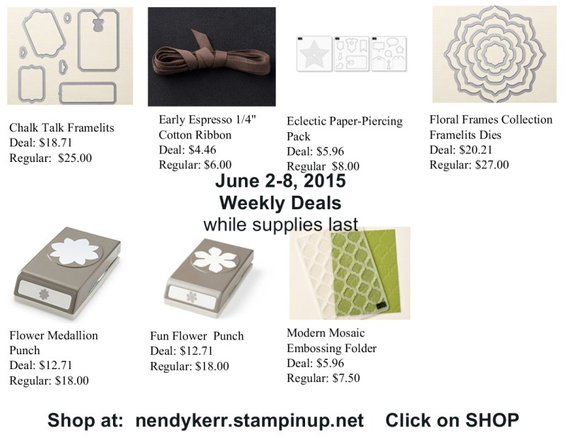 Stampin' Up! Weekly Deals for June 2-8, 2015
