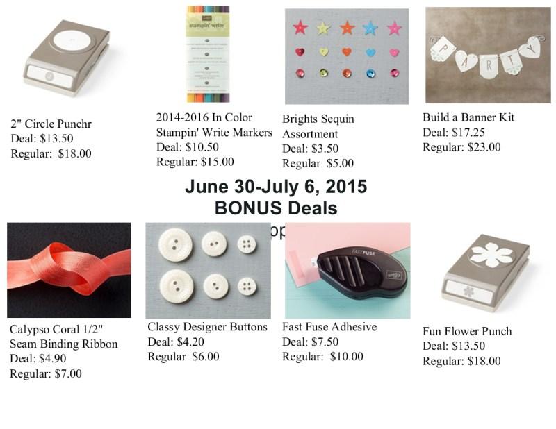Bonus Weekly Deals for June 30-July 6, 2015