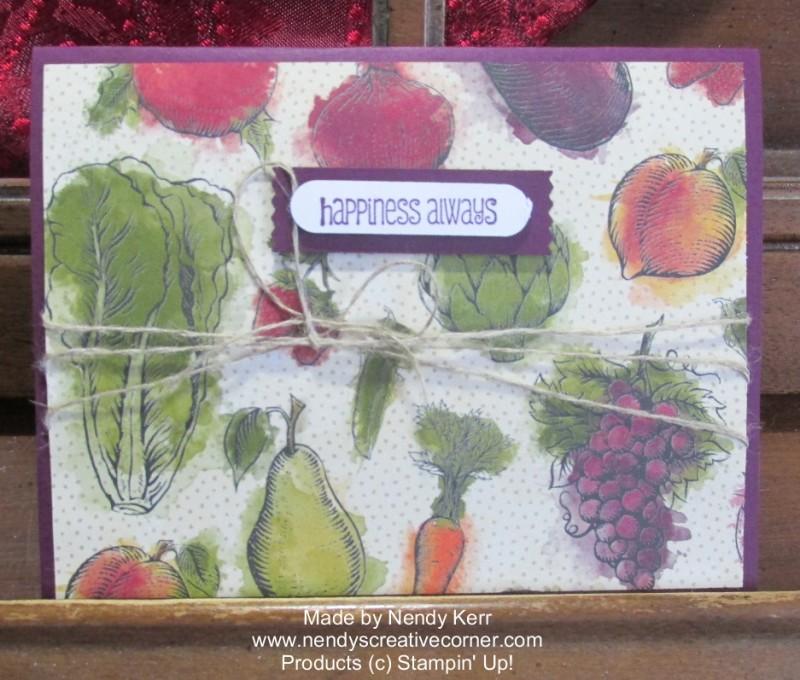 Happy Farmer's Market Veggie Card