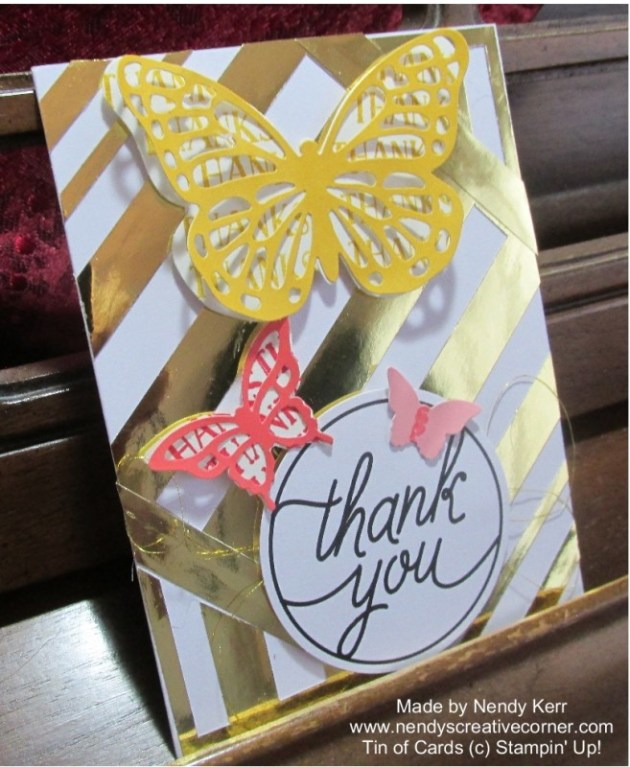 Tin of Cards-Gold Butterfly Card