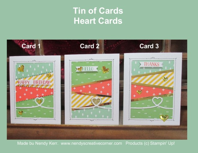 Tin of Cards-Heart Cards