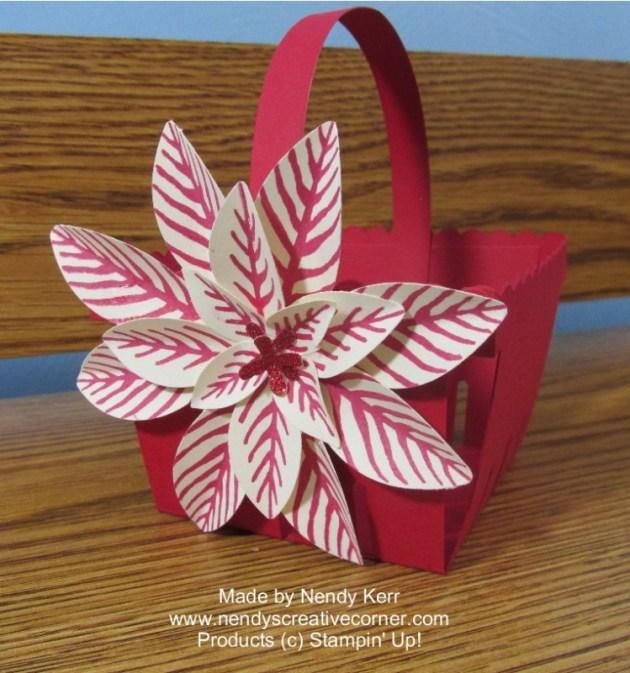 Poinsettia Berry Basket