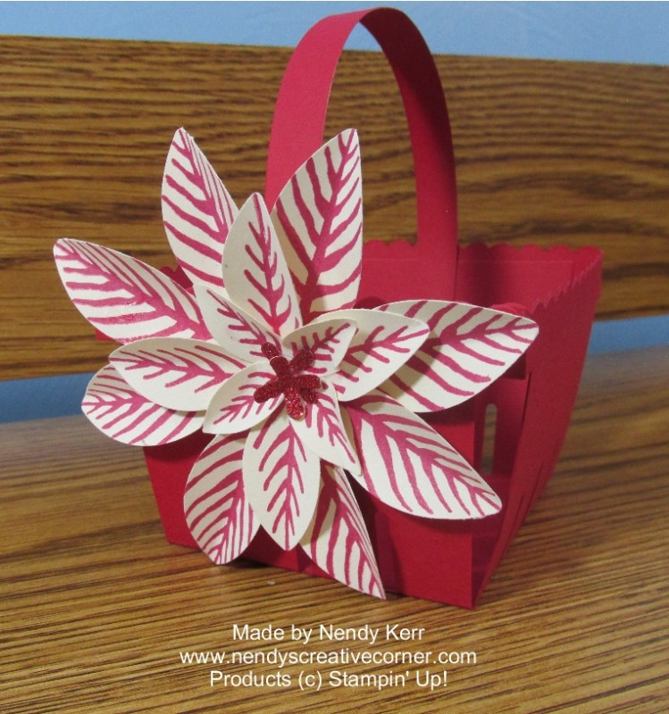 Poinsettia Berry Basket