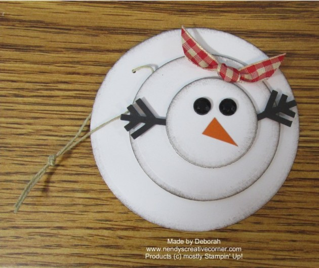 Snowman Tag or Ornament
