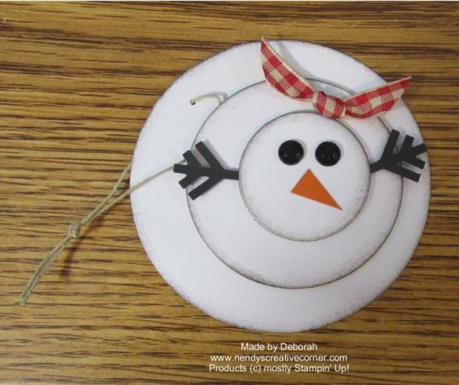 Snowman Tag or Ornament