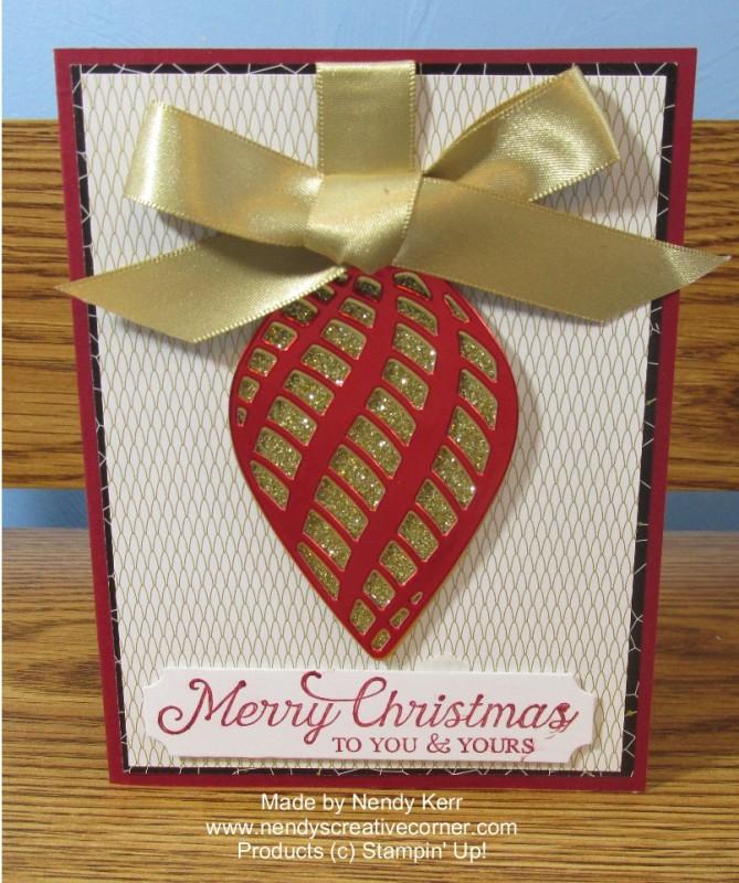 Re Foil Delicate Ornament Christmas Card