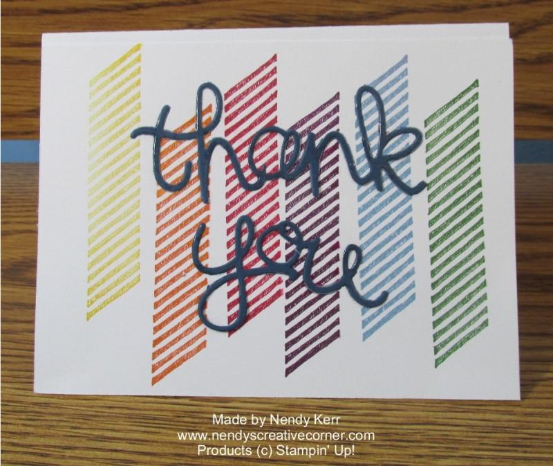 Rainbow Gorgeous Grunge Card