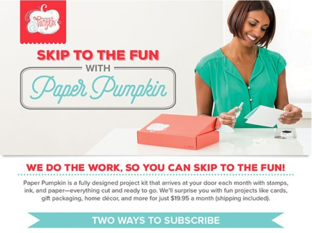 Give Paper Pumpkin a try.