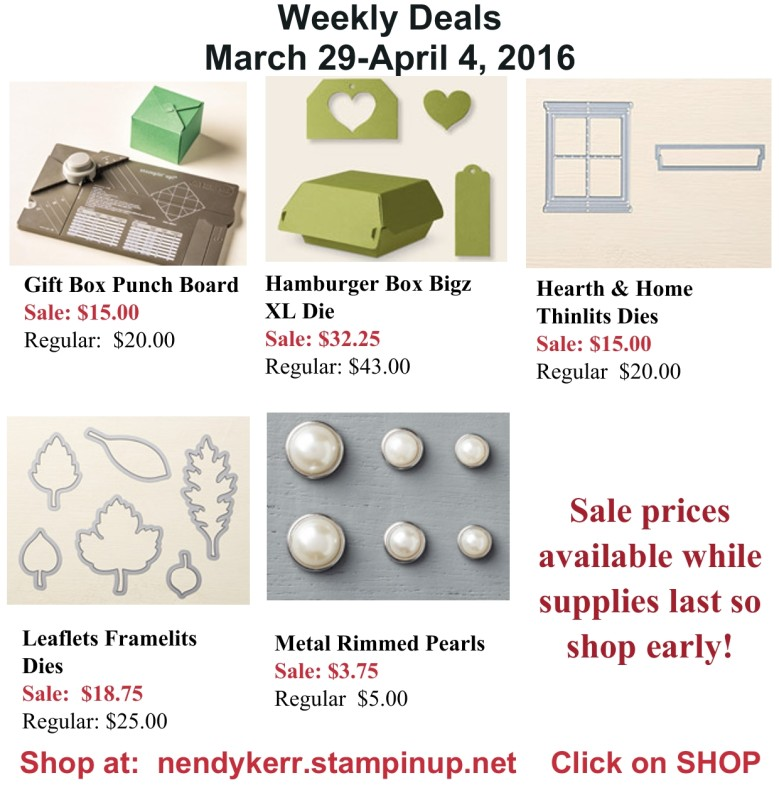 Weekly Deals March 29-April 4, 2016