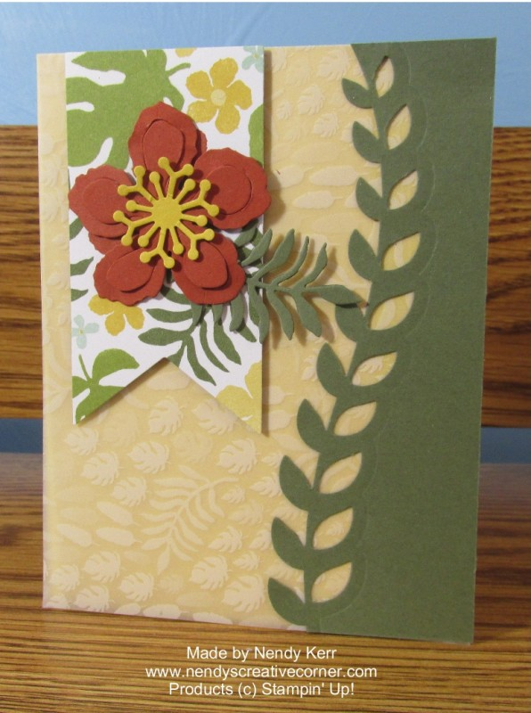 Botanical Blooms Banner Card