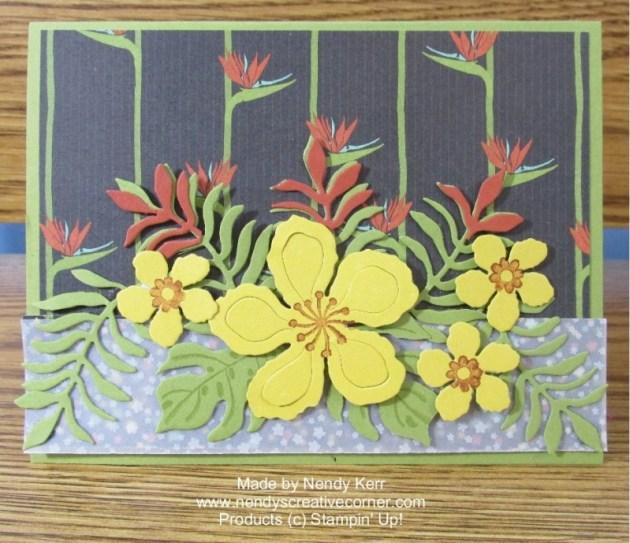 Botanical Blooms Yellow Flowers card