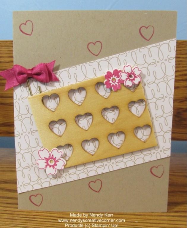 Love Blooms Embellishment Kit Wood Frame Heart Card