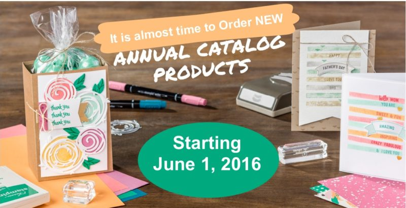 Almost Time for the NEW Stampin' Up! Catalog!