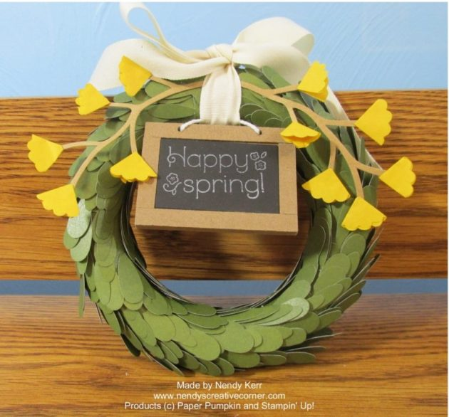 April Paper Pumpkin Wreath