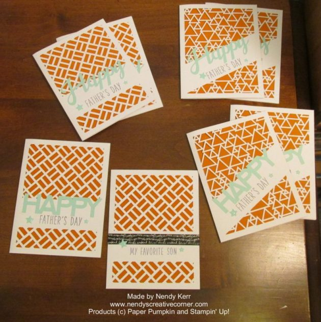 Father's Day Cards made from May 2016 Paper Pumpkin Kit