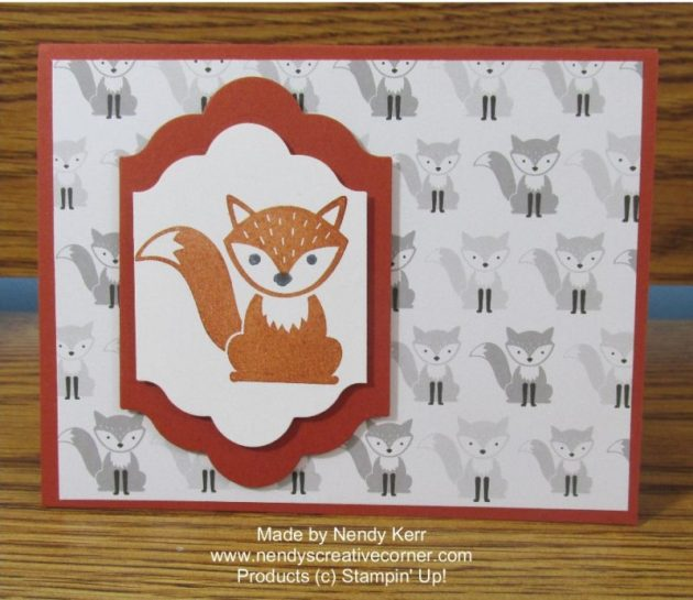 Foxy Friends Fox Card